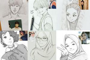 14 Sketsa wajah ini dibuat oleh seniman Indonesia, bak tokoh anime