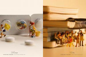10 Karya miniatur ini menggunakan latar dari benda-benda tak terduga