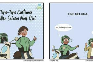 9 Komik lucu ini gambarkan tipe penumpang saat turun dari ojol