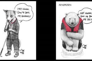 9 Ilustrasi ini menunjukkan penderitaan hewan, bikin terenyuh