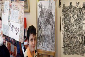 Hobi gambar sejak kecil, hasil karyanya di usia ke-16 ini mengagumkan