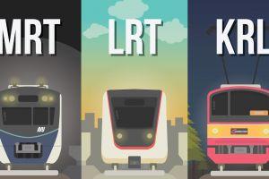 MRT moda transportasi baru di Jakarta, ini bedanya dengan LRT dan KRL