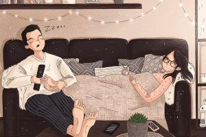 12 Ilustrasi ini tunjukkan jika punya suami cuek, kesel campur sayang