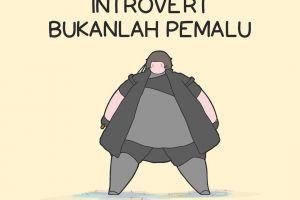 6 Komik ini gambarkan jika kepribadian introvert bukankah pemalu