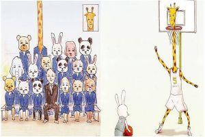 8 Ilustrasi jika jerapah menjalani kehidupan layaknya manusia