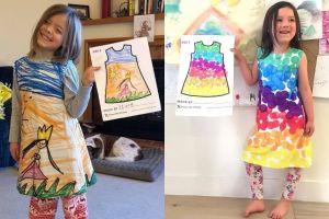 10 Karya seni buatan anak-anak ini dijadikan motif baju, unik & keren