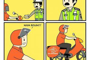 10 Komik kocak razia lalu lintas ini bikin mesam-mesem sendiri