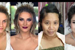 Perubahan mengagumkan 15 wajah pengantin sebelum dan sesudah make up