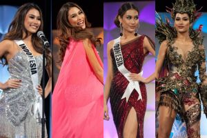 4 Pesona Frederika Cull saat preliminary competition Miss Universe