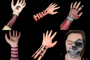 Seniman ini melukis lengannya menjadi ilusi optik yang mengagumkan