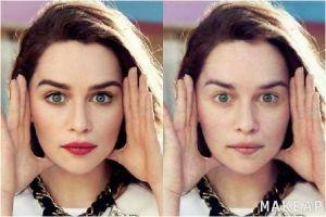 Begini wajah 10 artis jika diedit dengan aplikasi penghilang make-up