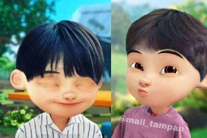 7 Foto editan karakter serial Upin Ipin versi Korea, gemesin banget