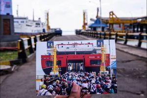 10 Foto perbandingan suasana Lebaran dulu dan kini di Pelabuhan Merak