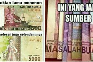 10 Meme kocak soal rupiah ini bikin ngakak, uangnya bisa bercerita