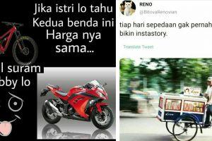 9 Meme kocak tentang fenomena bersepeda ini sesuai dengan realita