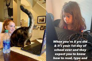 6 Potret kegiatan belajar online anak-anak ini bikin tepuk jidat