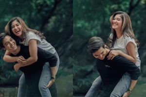 7 Potret manis Ochi Rosdiana dan Rizky Djanbi, pasangan romantis