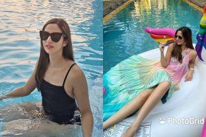 6 Potret menawan Nia Ramadhani saat berada di kolam renang