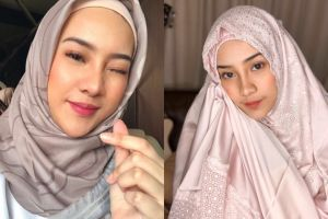 7 Pesona Anya Geraldine saat pakai hijab, sukses curi perhatian