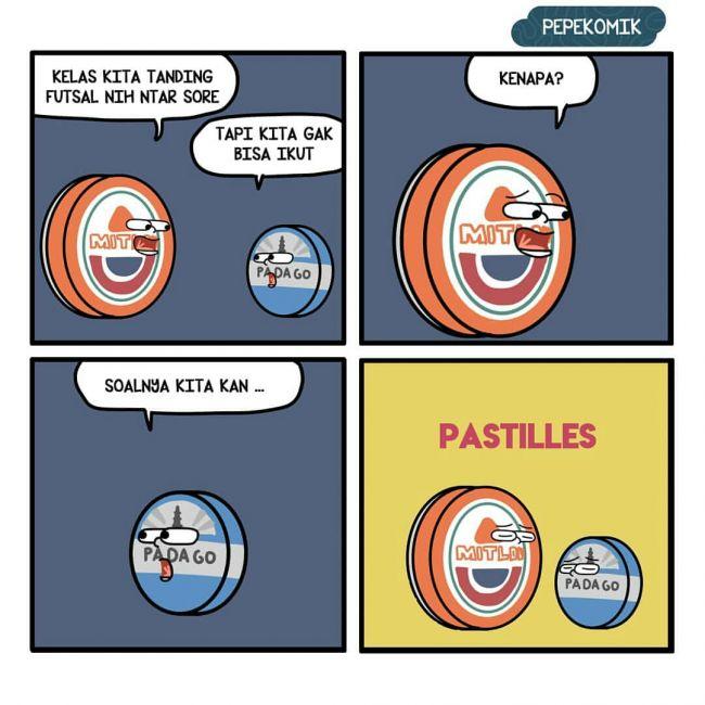 7 Komik strip obrolan produk kemasan ini bikin senyum sendiri