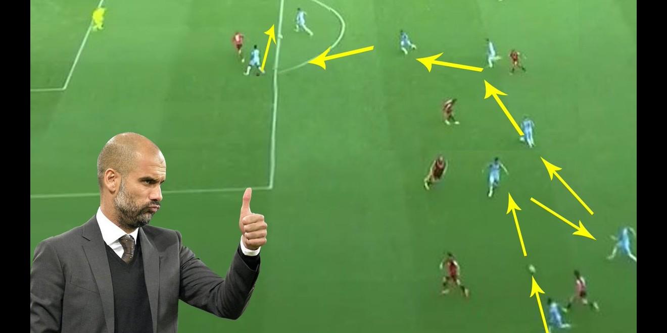 Begini skema sepak bola atraktif ala Pep Guardiola di Manchester City
