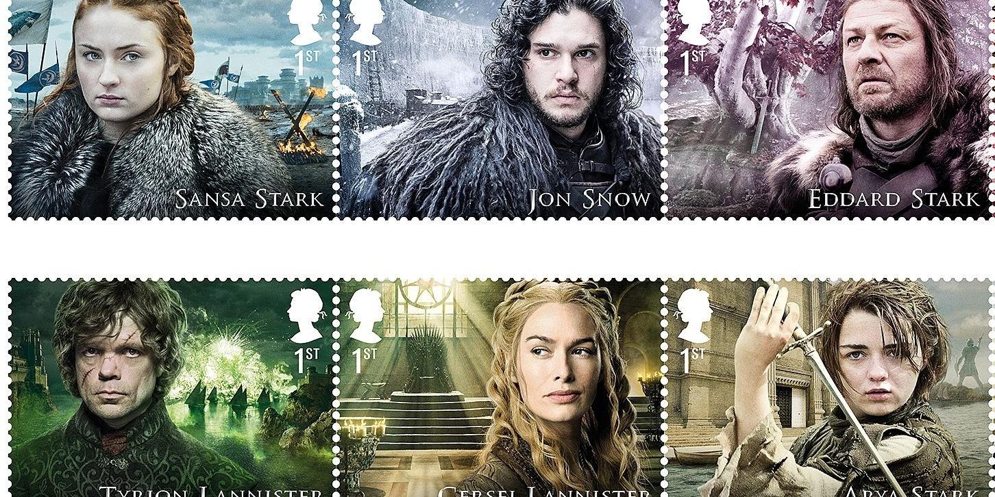 Deretan perangko bertema Game of Thrones ini keren, layak dikoleksi