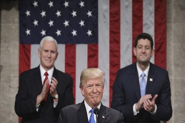 Ini isi pidato kongres Trump yang mengutamakan kepentingan Amerika