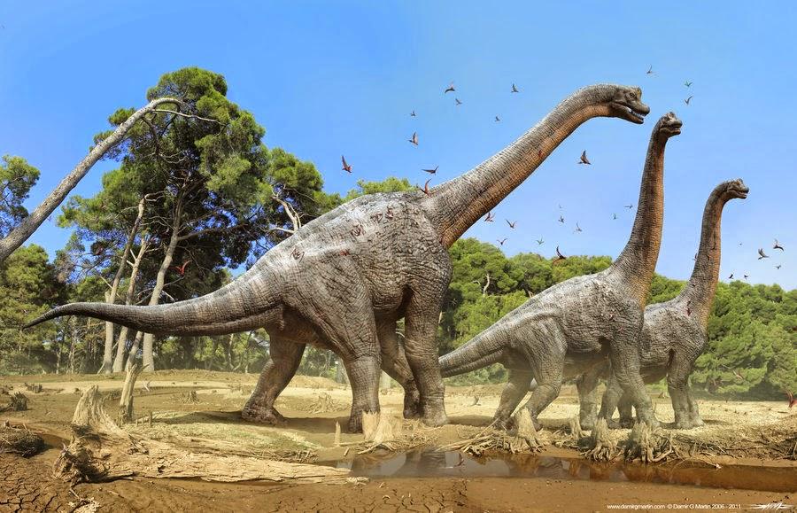 Ini penampakan tapak dinosaurus yang hidup 100 juta tahun lalu