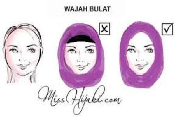Tips memakai jilbab sesuai bentuk wajah, bikin cantikmu optimal
