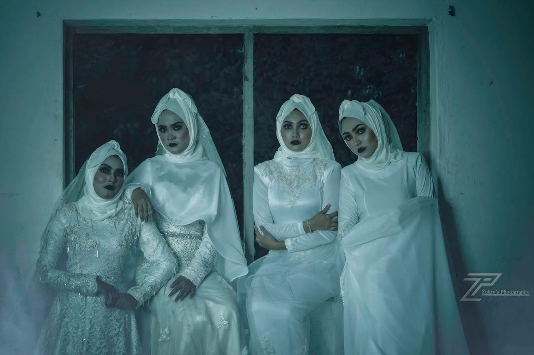 Setelah hijab pocong, kini muncul hijab pengantin seram. Kamu berani?