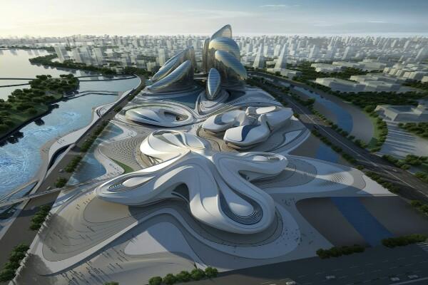 Rancangan konsep pusat seni modern Zaha Hadid diluncurkan di Cina