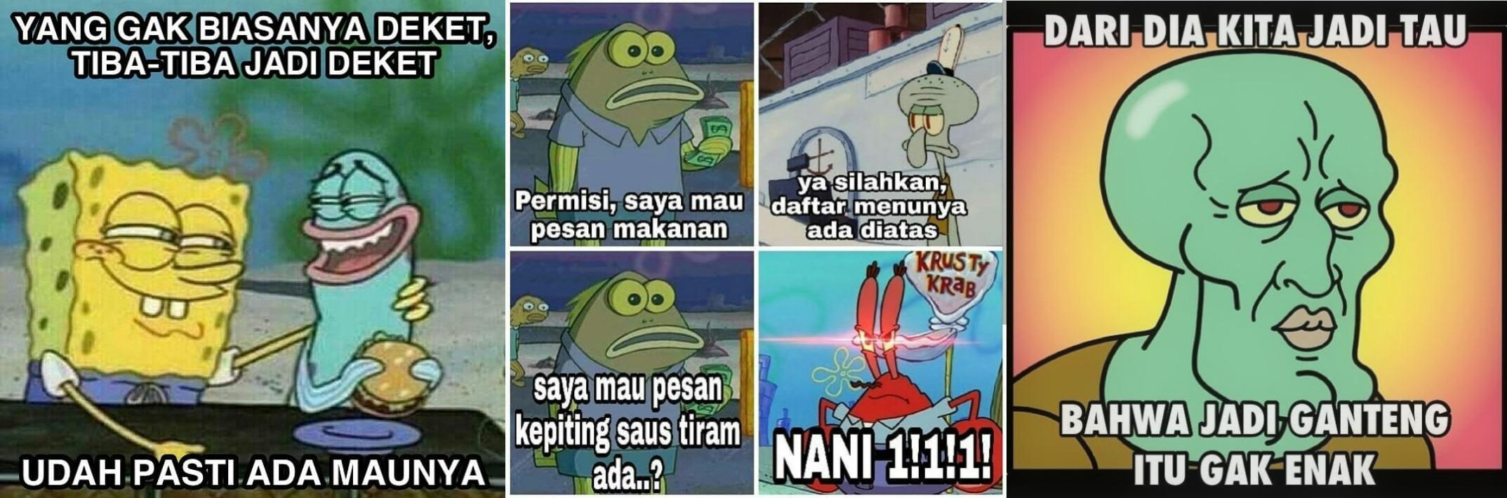 15 Meme Logika Konyol Ala Spongebob Ini Bikin Geleng Geleng