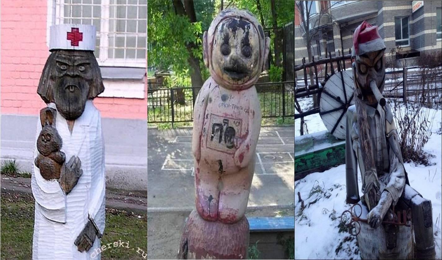 Bukannya lucu, taman bermain di Rusia ini malah bikin merinding