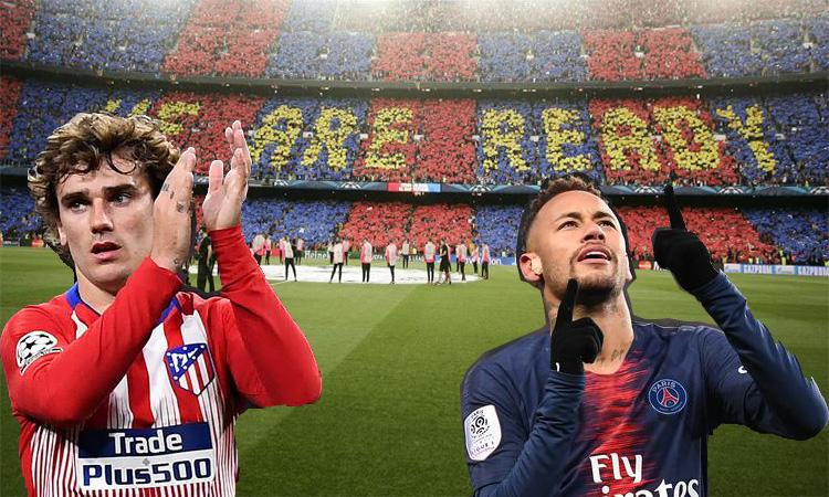 Ngebet, Barcelona ingin Boyong Neymar dan Griezman sekaligus