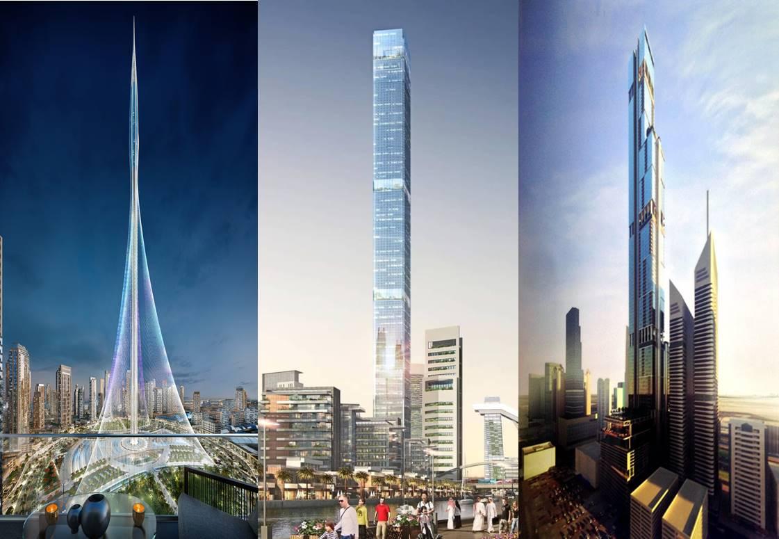 Dubai Bangun 3 Gedung Pencakar Langit Ada Yang Setinggi 1 Kilome