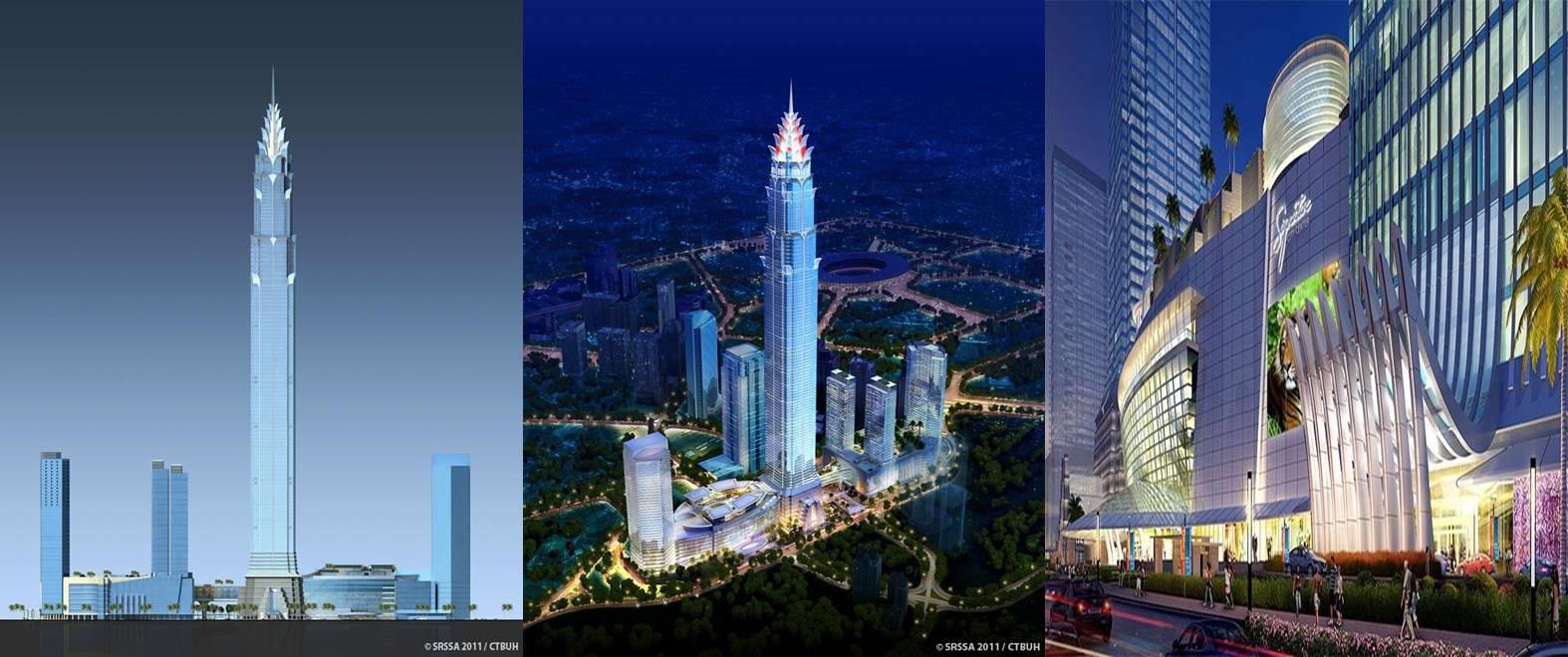 Bila selesai dibangun, gedung di Jakarta ini jadi tertinggi ke-6 dunia