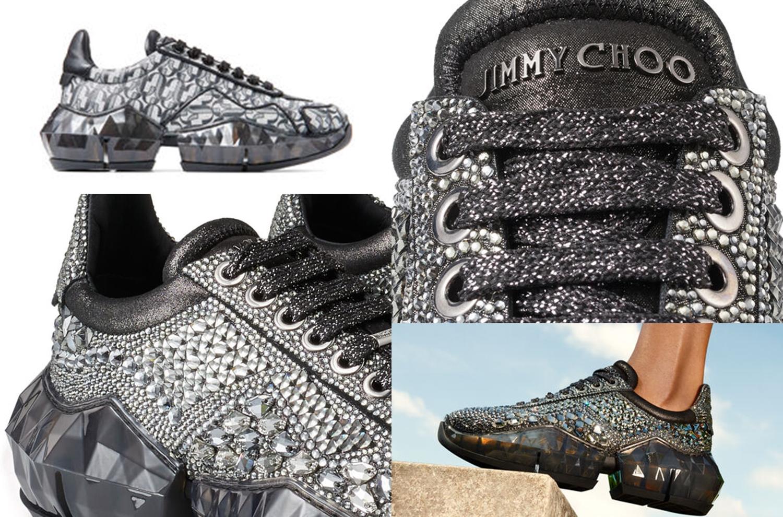 Sepatu mewah bertabur kristal karya Jimmy Choo ini dihargai 55 juta