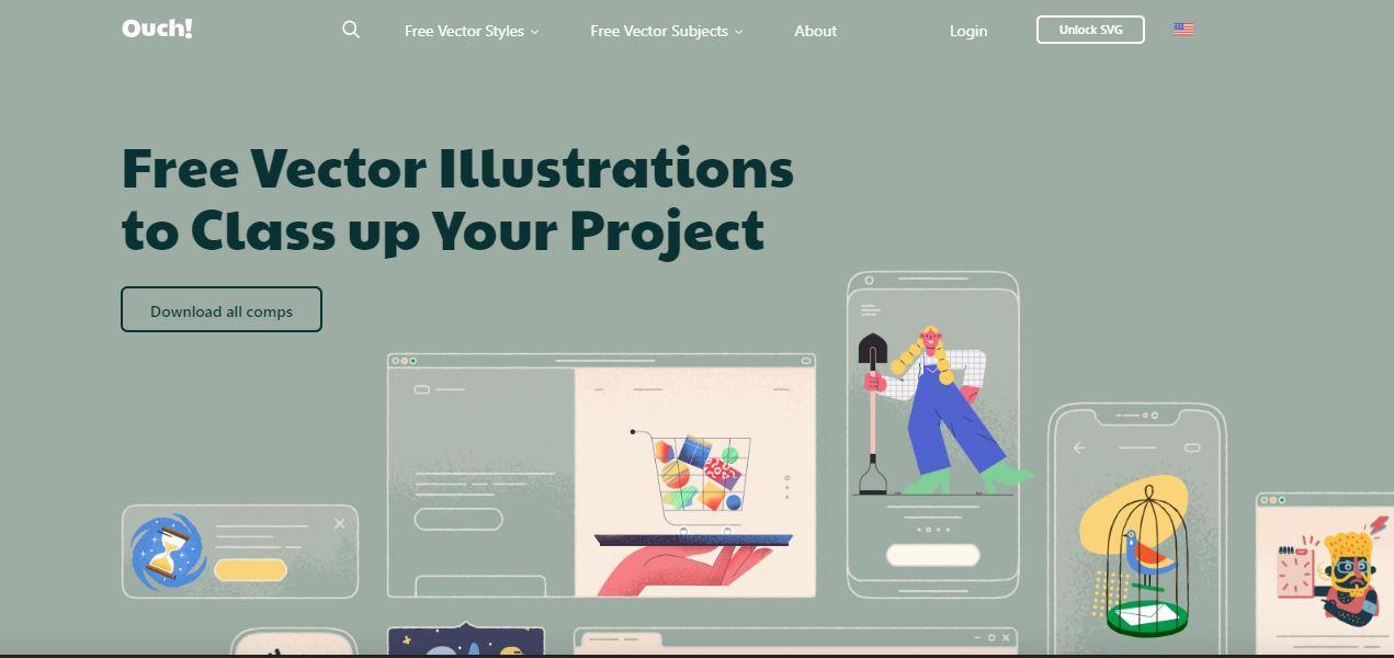 9 Website download ilustrasi gratis buat bahan desainmu