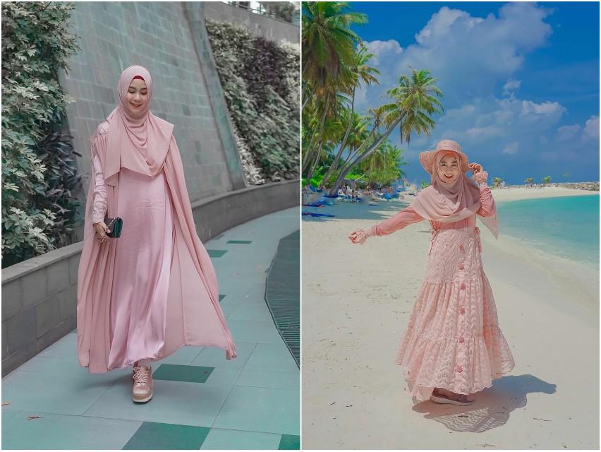 7 Potret Anisa Rahma saat mengenakan gamis, cantik dan anggun