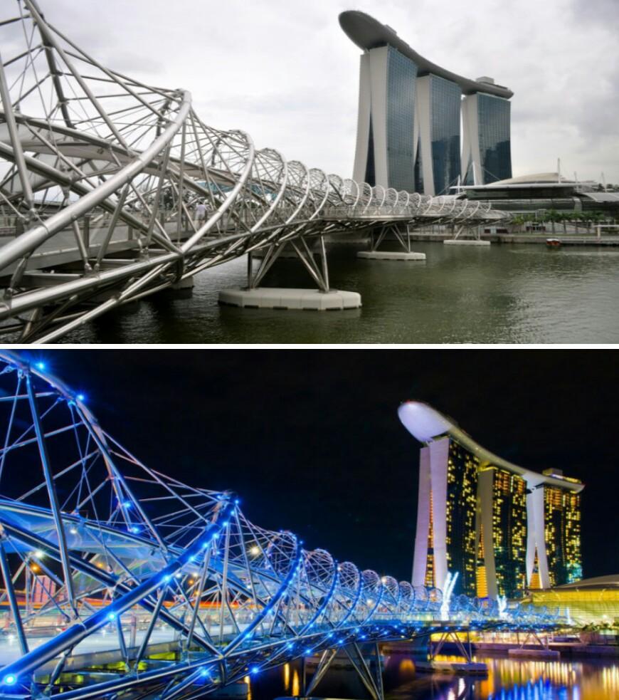 15 Bangunan yang siang dan malam tetap terlihat spektakuler