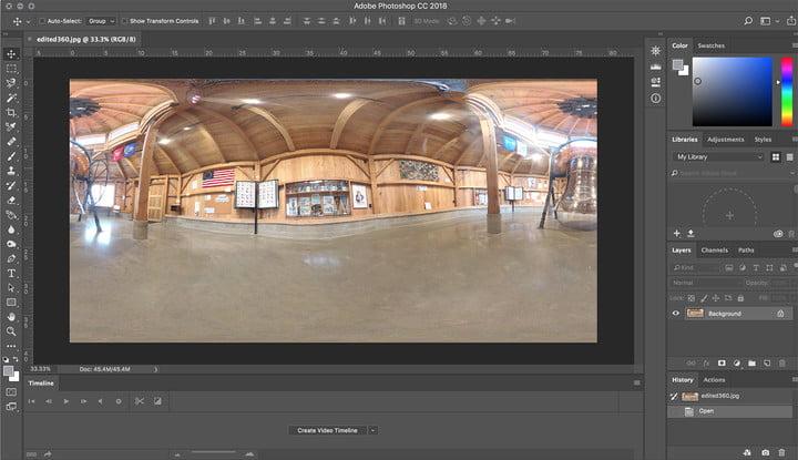 Ini cara edit hasil foto 360 di Photoshop, biar makin ...