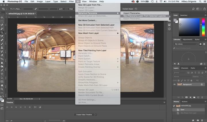 Ini cara edit hasil foto 360 di Photoshop, biar makin Instagramable