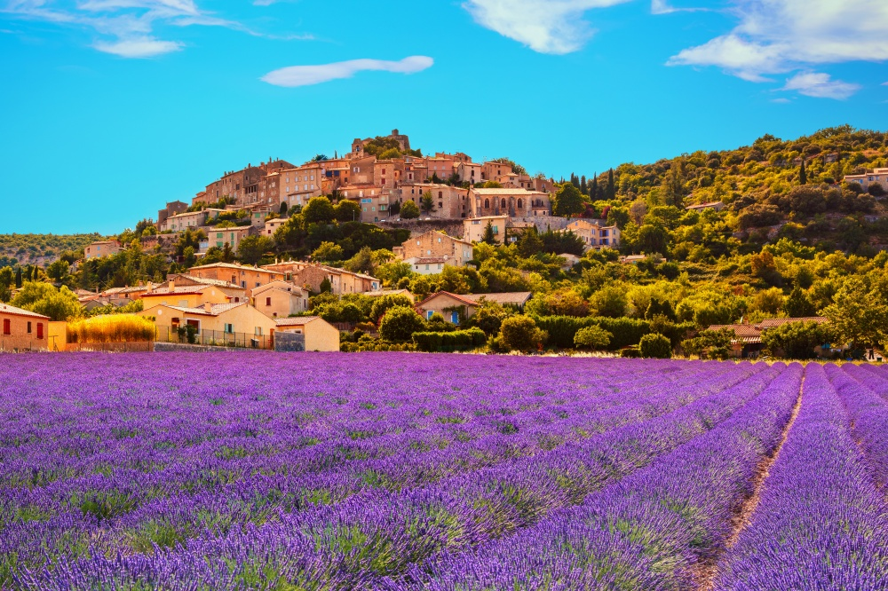 Simiane-La-Rotonde Village in Provence, France