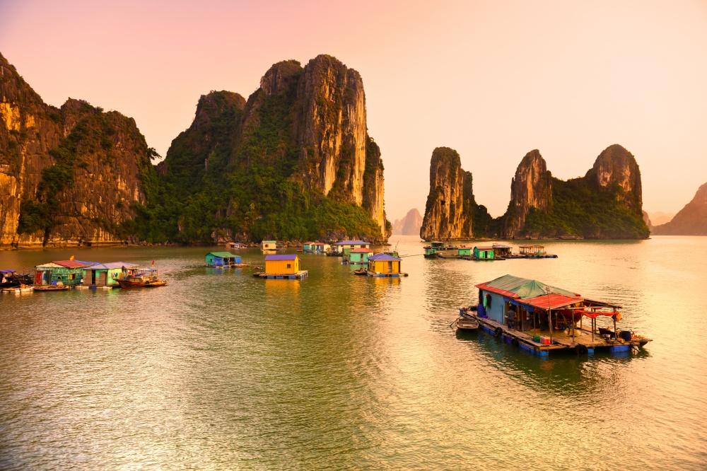 Fishing Village Cua Van, Vietnam