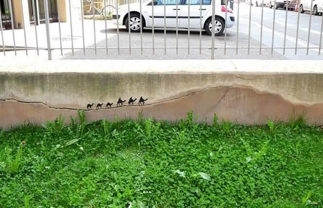 Tembok retak