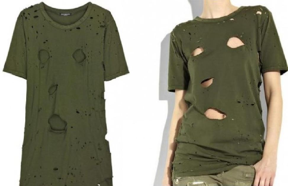 Ripped T-Shirt Balmain