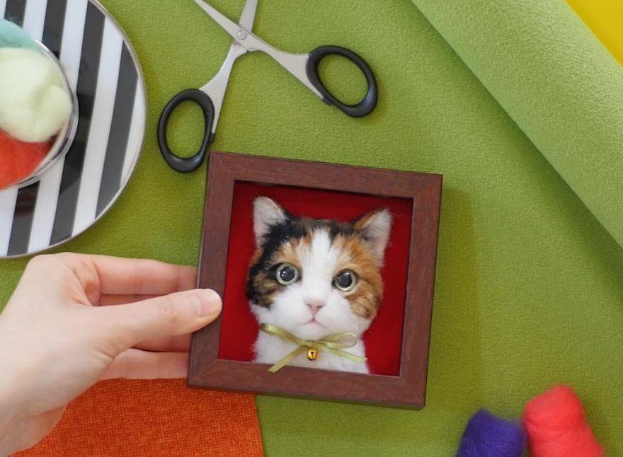 12 Kerajinan kucing 3D benang wol ini gemas abis, mirip sama aslinya
