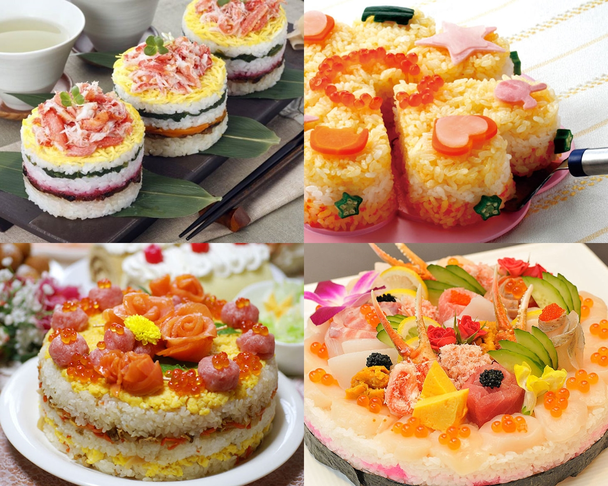 9 Bentuk sushi yang indah dan warna-warni, bikin lapar mata & perut