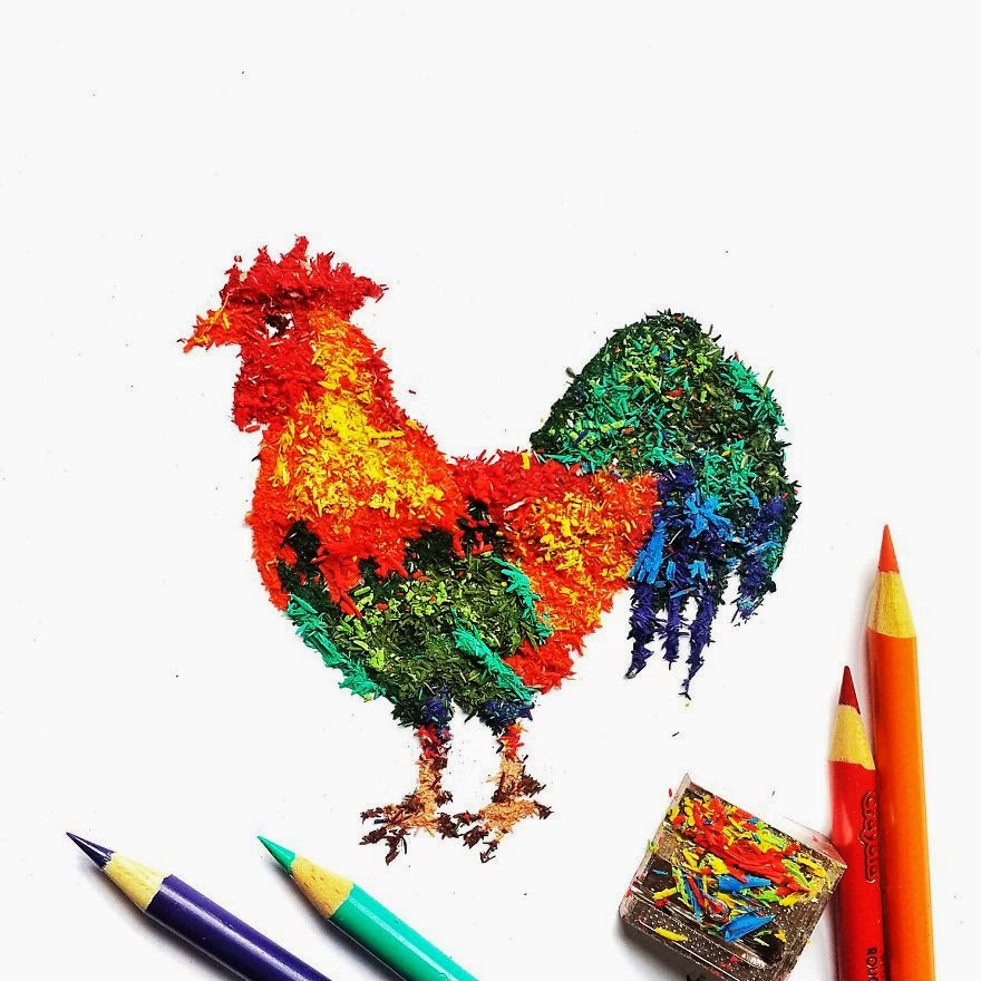 11 Gambar dari serbuk serutan pensil warna ini bikin kagum