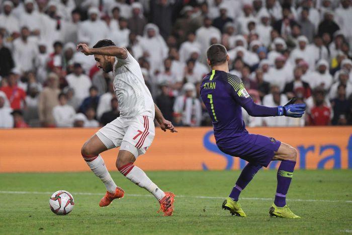 Ali Ahmed Mabkhout, pencetak gol semata wayang UEA ke gawang Australia, Jumat (25/01/2019)